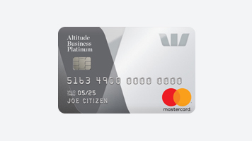 Westpac Altitude Business Platinum rewards Mastercard credit card