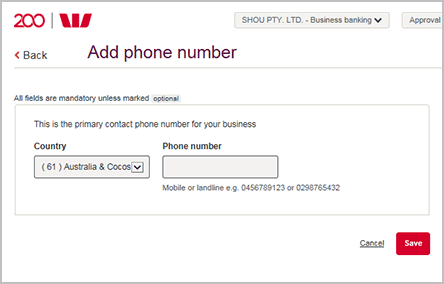 How to change your business phone number online | Westpac