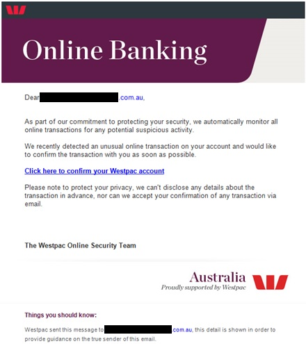 Online dating banking scam