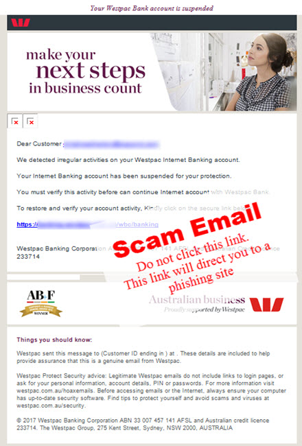 Scam email