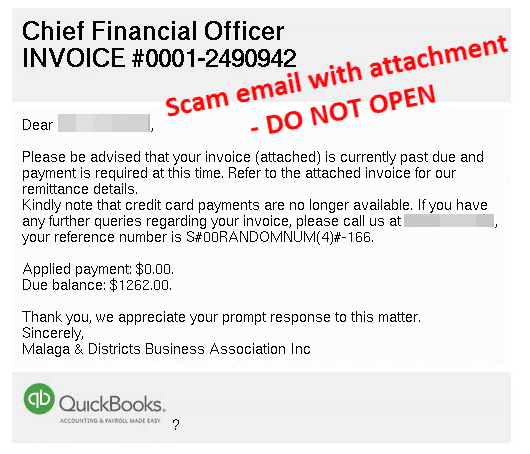 latest email scams