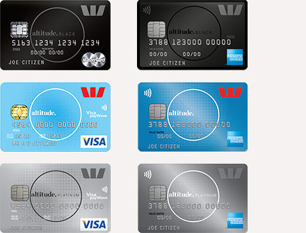 Westpac rewards cards
