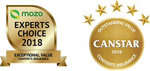 Canstar Outstanding Value, Contents Insurance, 2018