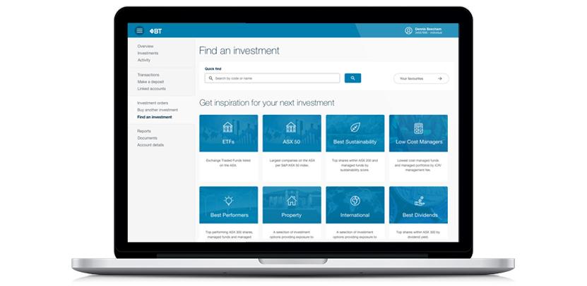 BT Invest - Build your own investment portfolio   Westpac