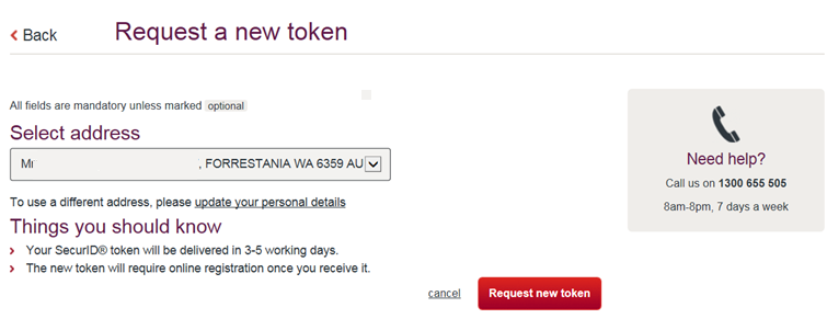 Personal customer - how to order replacement tokens for