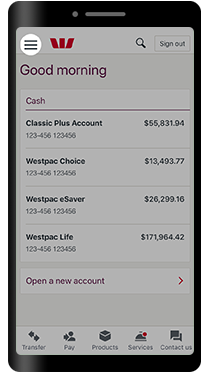 Proof of balance and transactions | Westpac