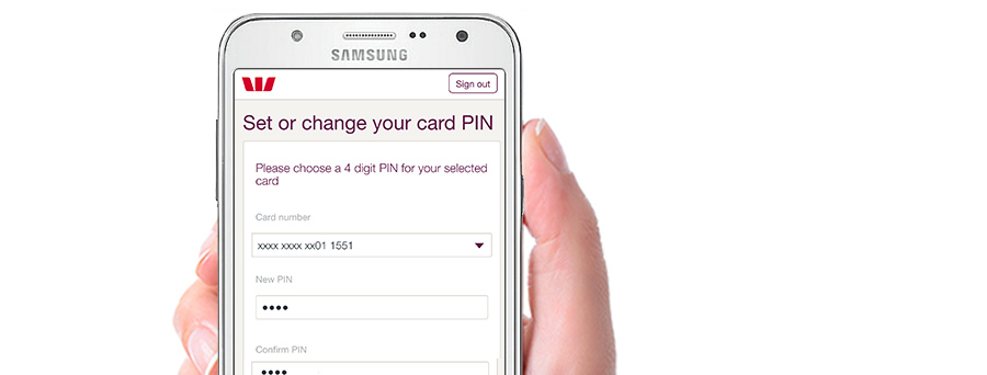 westpac how to change password on visacard