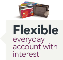 Flexible everyday account with interest